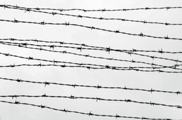 Auschwitz I - Wire BW