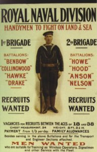 Royal Naval Division recruitment poster (Public Domain).