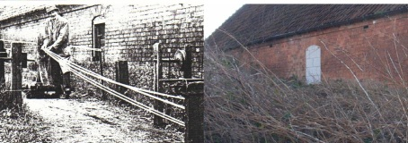 Alfred Henry Buckingham's rope-walk: Left c 1950 and, right, in 2008.
