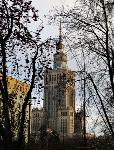 The Palace of Culture and Science.
