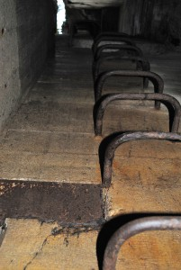 Ladder inside Goering's bunker.