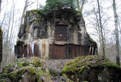 Inside Hitler's bunker.